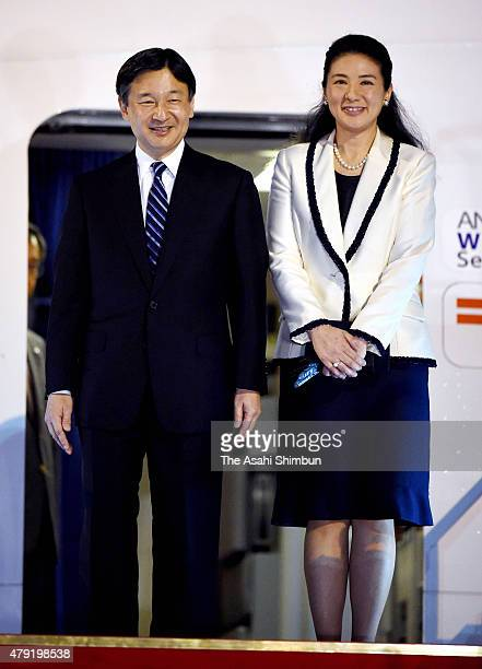 Crown Prince Naruhito and Crown Princess Masako are seen on departure at Haneda International Airport on July 2 2015 in Tokyo Japan Crown Prince and...