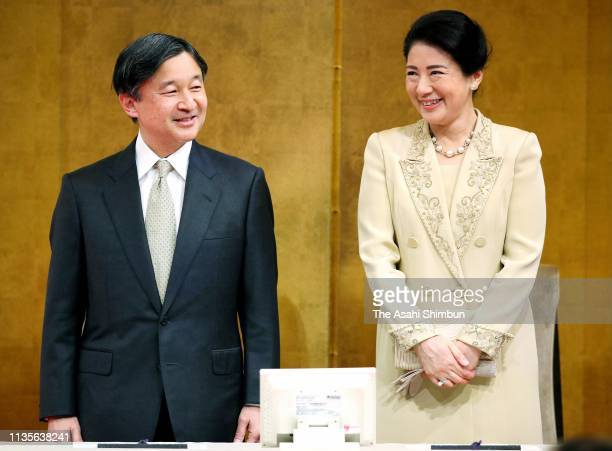 Crown Prince Naruhito and Crown Princess Masako attend the 15th Healthy Society Awards on March 13, 2019 in Tokyo, Japan.