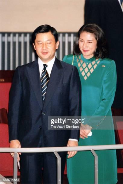 Crown Prince Naruhito and Crown Princess Masako attend the Teatro Comunale di Bologna Japan Performance at Bunkamura Orchard Hall on October 9 1998...