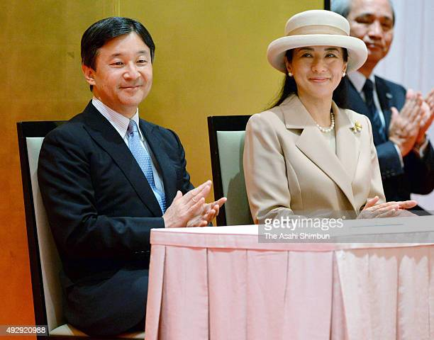 Crown Prince Naruhito and Crown Princess Masako attends the Gobal Environmental Action International Conference at the Capitol Tokyu Hotel on October...