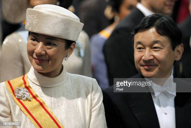 Crown Prince Naruhito and Crown Princess Masako of Japan during the inauguration ceremony of King Willem Alexander and Queen Maxima of the...