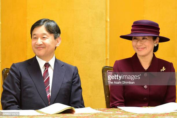 Crown Prince Naruhito and Crown Princess Michiko attend a ceremony for the Week for Persons with Disabilities on December 5 2017 in Tokyo Japan