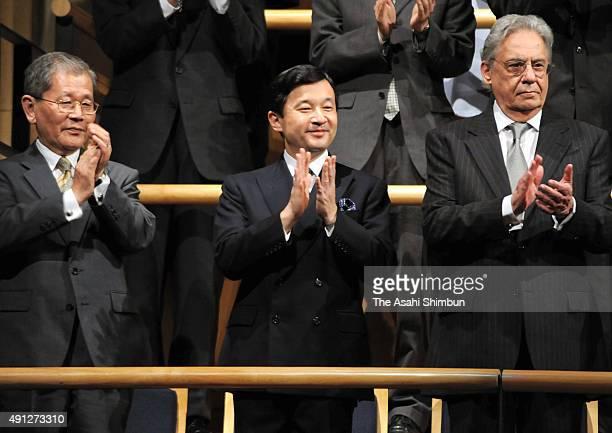 Crown Prince Naruhito and former Brazilian President Fernando Henrique Cardoso attend teh Sao Paulo Philharmonic Concert at Sala Sao Paulo on June 19...