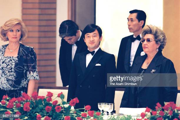 Crown Prince Naruhito attends the centernary ceremony of the JapanTurkey diplomatic relationship on June 6 1990 in Tokyo Japan