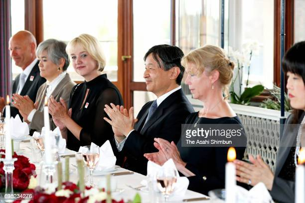Crown Prince Naruhito attends the luncheon with Odense Mayor on June 19 2017 in Odense Denmark
