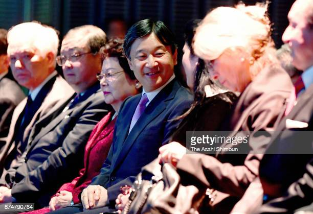 Crown Prince Naruhito attends the Science Centre World Summit Opening Ceremony at the National Museum of Emerging Science and Innovation on November...