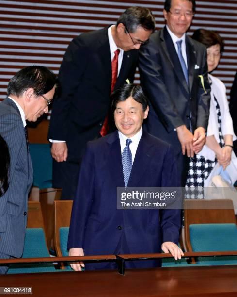 Crown Prince Naruhito attends the 'Viola Space 2017' concert at Ueno Gakuen Ishibashi Memorial Hall on May 31 2017 in Tokyo Japan