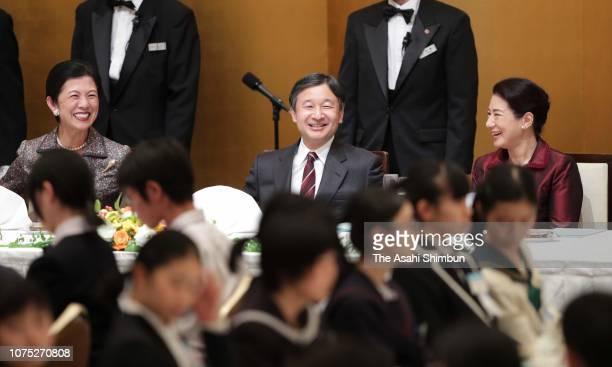 Crown Prince Naruhito Crown Princess Masako and Princess Hisako of Takamado attend the 70th Prince Takamado Trophy All Japan Junior High School...