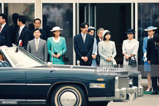 Crown Prince Naruhito, Crown Princess Masako, Prince Akishino, Princess Kiko of Akishino, Princess Sayako, Prince Hitachi, Princess Hanako of...
