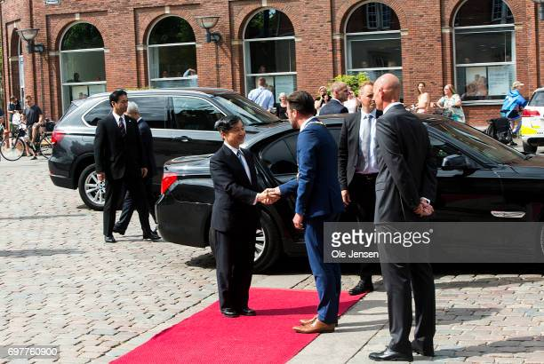 Crown Prince Naruhito of Japan arrives at Odense Town Hall where he shake hands with Mayor Peter Rahbaek on June 19 Odense Denmark The rather long...