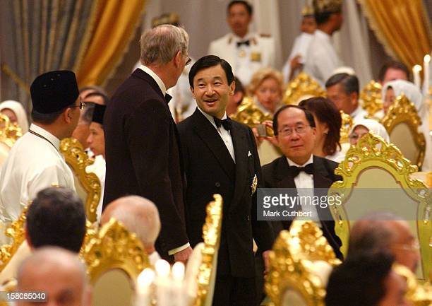 Crown Prince Naruhito Of Japan Attends A Banquet At The Istana Nurul Iman The Day After The Wedding Of Prince Haji AlMuhtadee Billah The Crown Prince...