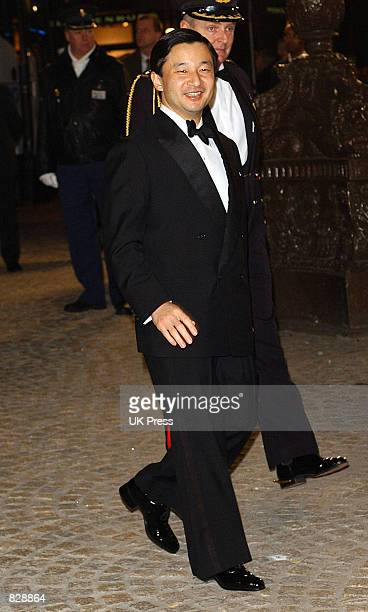Crown Prince Naruhito of Japan attends a dinner and party at the Royal Palace in honor of the wedding of Dutch Crown Prince WillemAlexander and...