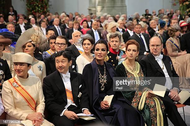 Crown Prince Naruhito of Japan, Crown Princess Masako of Japan, Sjeikha Moza bint Nasser al Misned of Qatar , Princess Lalla Salma of Morocco and...