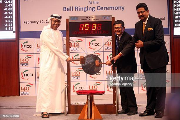 Crown Prince of Abu Dhabi and Deputy Supreme Commander of the UAE Armed Forces Sheikh Mohammed Bin Zayed Al Nahyan and Bombay Stock Exchange managing...