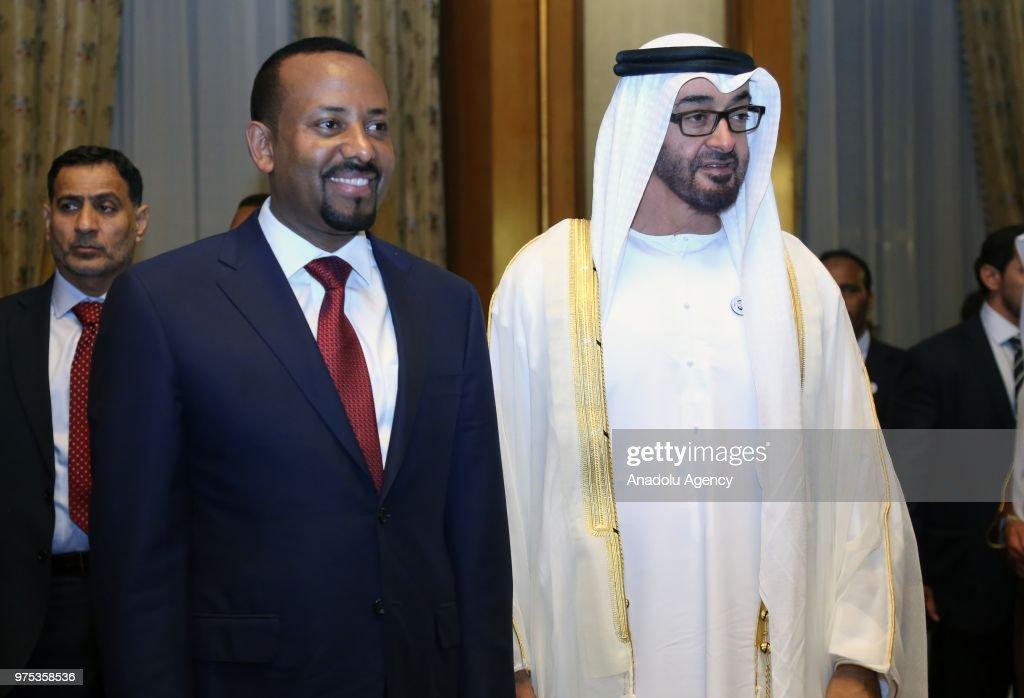 Crown Prince of Abu Dhabi Al Nahyan in Ethiopia : Nieuwsfoto's