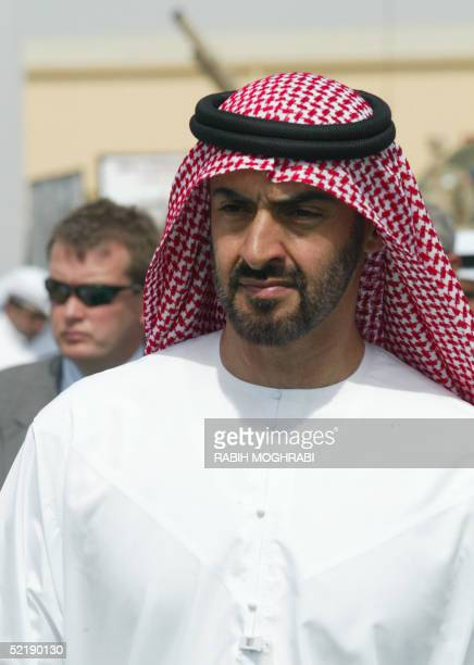 Crown prince of Abu Dhabi sheikh Mohammed bin Zayed Al Nahyan attends the opening ceremony of the IDEX Defense Exhibition in Abu Dhabi 13 February...