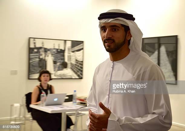 Crown Prince of Dubai His Highness Sheikh Hamdan Bin Mohammed Al Maktoum attends the tenth edition of Art Dubai 2016 that is held under the patronage...
