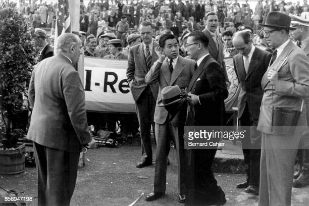Crown Prince of Japan Akihito Grand Prix of Germany Nurburgring 02 August 1953 Crown Prince and future Emperor of Japan Akihito during his tour of...