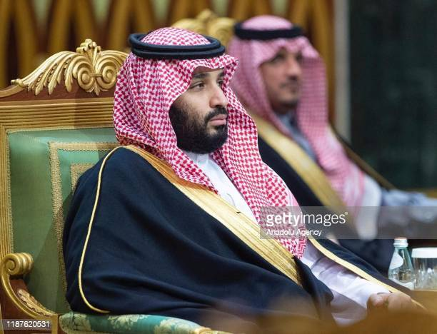 Crown Prince of Saudi Arabia Mohammad bin Salman attends the 40th Gulf Cooperation Council annual summit in Riyadh, Saudi Arabia on December 10, 2019.