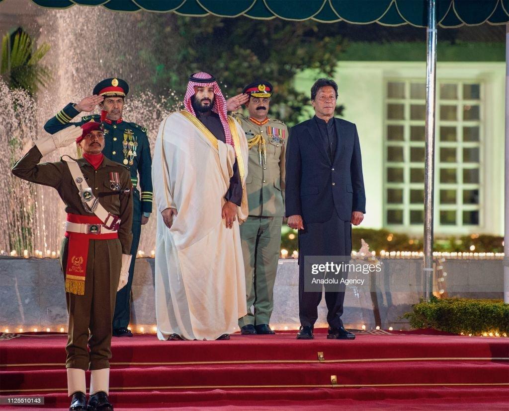 Crown Prince of Saudi Arabia Mohammad bin Salman in Islamabad : News Photo