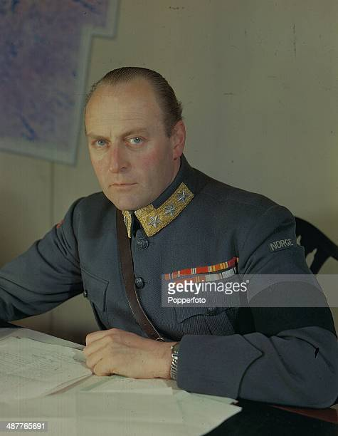 Crown Prince Olaf as Chief of the Norwegian Army, later King Olaf V of Norway, during World War Two, May 1945.