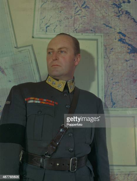 1945 Crown Prince Olaf as Chief of the Norwegian Army later King Olaf V of Norway May 1945