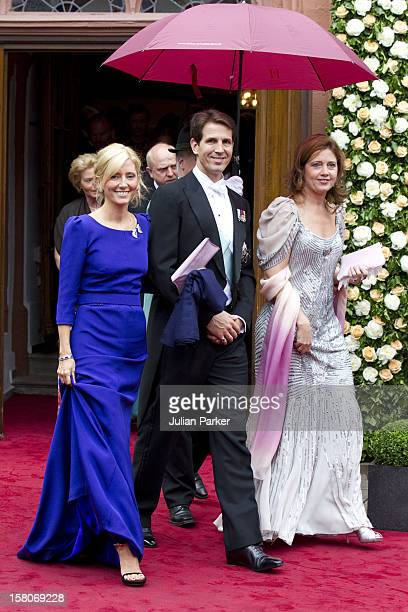 Crown Prince Pavlos, And Crown Princess Marie Chantal , And Princess Alexia Of Greece Attend The Wedding Of Princess Nathalie Of Sayn-Wittgenstein...