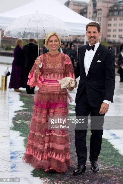 Crown Prince Pavlos and Crown Princess Marie Chantal of Greece attend a Gala Banquet hosted by The Government at The Opera House as part of the...