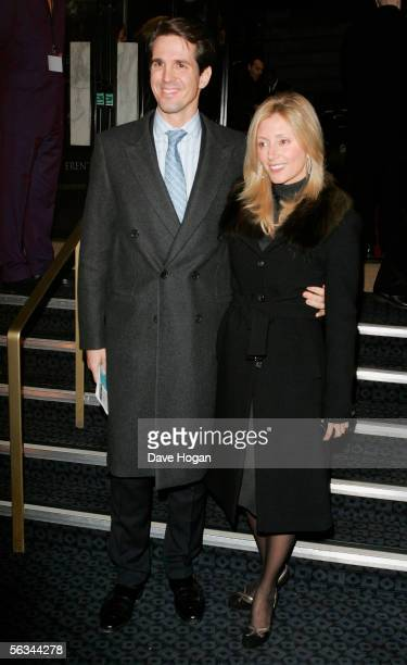 Crown Prince Pavlos and Princess MarieChantal of Greece arrive at the VIP preview screening of A Different Story a documentary based on singer George...