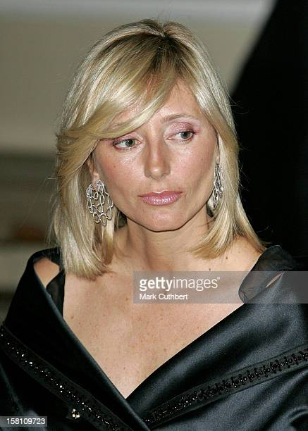 Crown Prince Pavlos Crown Princess MarieChantal Of Greece Attend A Dinner To Launch The Jordan River Foundation In The Uk And To Establish...