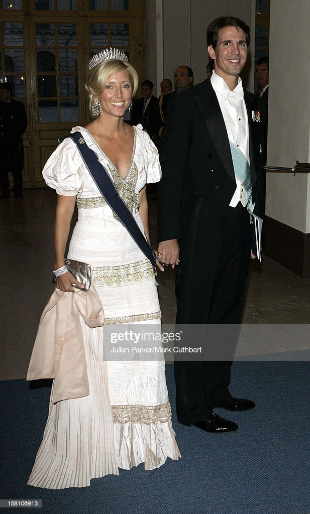 Crown Prince Pavlos & Crown Princess Marie-Chantal Of Greece Attend King Carl Gustaf Of Sweden'S 60Th Birthday Celebrations.Gala Dinner At The Royal Palace, Stockholm.