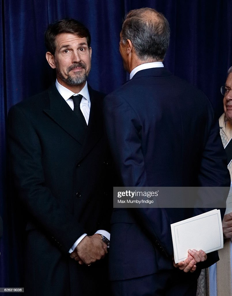 Crown Prince Pavlos of Greece and Edward van Cutsem attend a Memorial Service for Gerald Grosvenor, 6th Duke of Westminster at Chester Cathedral on November 28, 2016 in Chester, England. Gerald Cavendish Grosvenor, 6th Duke of Westminster died aged 64 on August 9, 2016 and is survived by his wife, The Duchess of Westminster, Natalia Grosvenor, daughters Lady Tamara van Cutsem, Lady Edwina Snow and Lady Viola Grosvenor and his 25-year-old son and heir Hugh Grosvenor, 7th Duke of Westminster.