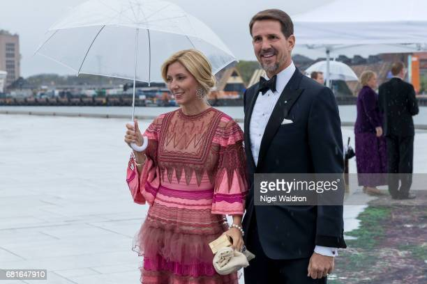 Crown Prince Pavlos of Greece and Princess MarieChantal Greece arrives at the Opera House on the occasion of the celebration of King Harald and Queen...