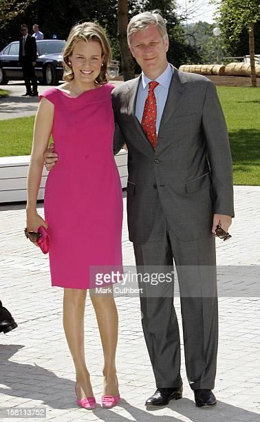 Crown Prince Philippe & Crown Princess Mathilde Of Belgium Attend The Silver Wedding Anniversary Celebrations Of Grand Duke Henri & Grand Duchess...