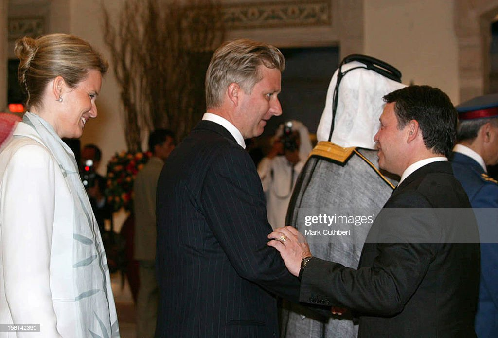 Crown Prince Philippe & Crown Princess Mathilde Of Belgium Attend The Wedding Celebrations Of Crown Prince Hamzah Bin Al Hussein Of Jordan & Princess Noor In Amman. .