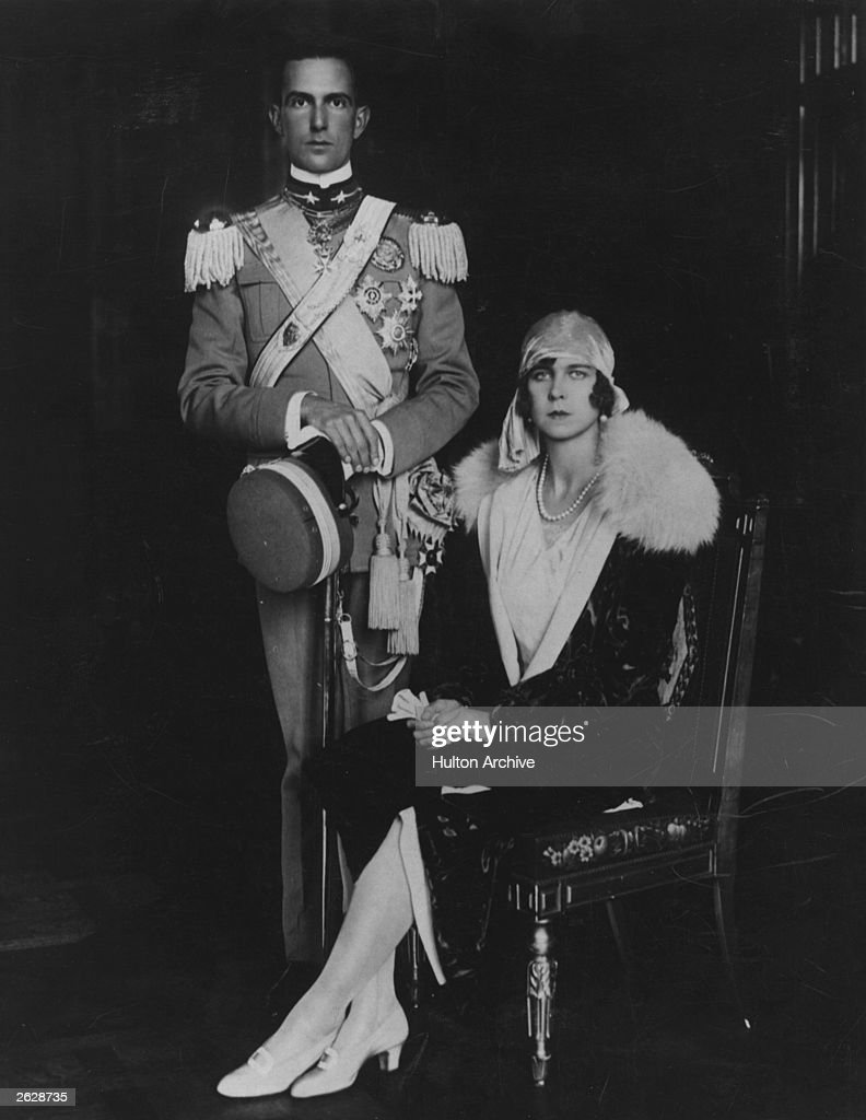 Crown Prince Umberto of Italy (1904 - 1983) with Princess Marie Jose of Belgium. He became King Umberto II of Italy in 1946 but was subsequently deposed.