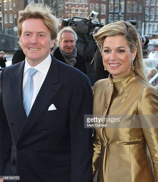 Crown Prince Willem Alexander And Crown Princess Maxima Attend The Royal Theatre In Amsterdam As Part Of Queen Beatrix'S 70Th Birthday Celebrations