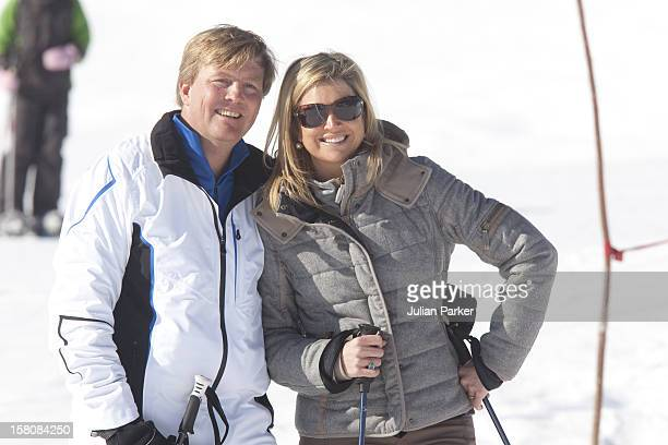 Crown Prince Willem Alexander And Crown Princess Maxima Of Holland Attends A Photocall With Members Of The Dutch Royal Family During Their Winter Ski...