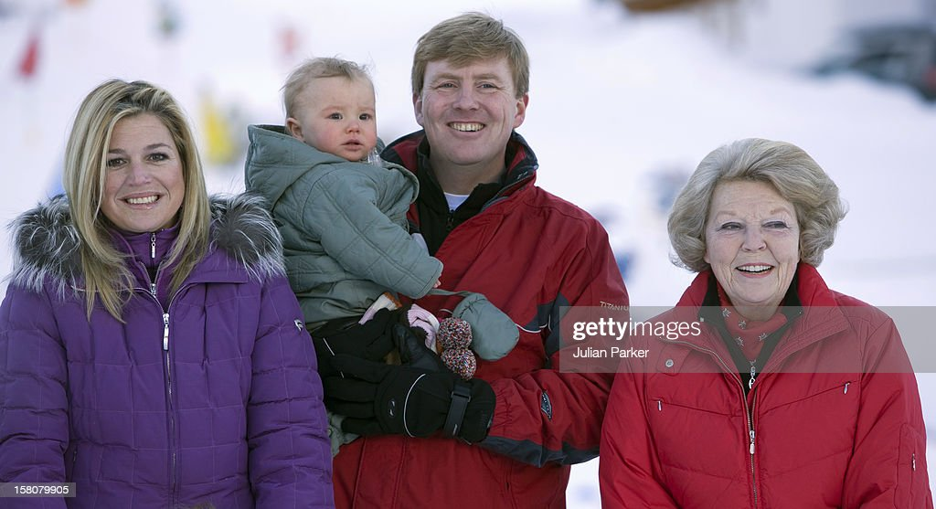 The Dutch Royal Family Skiing Holiday - Lech : News Photo