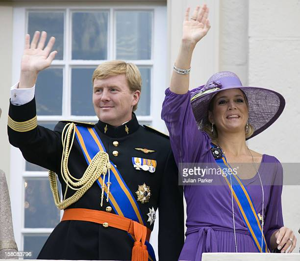 Crown Prince Willem Alexander And Crown Princess Maxima Of Holland Appear On The Balcony At The Noordeinde Palace At The Prinsjesdag Prince'S Day...