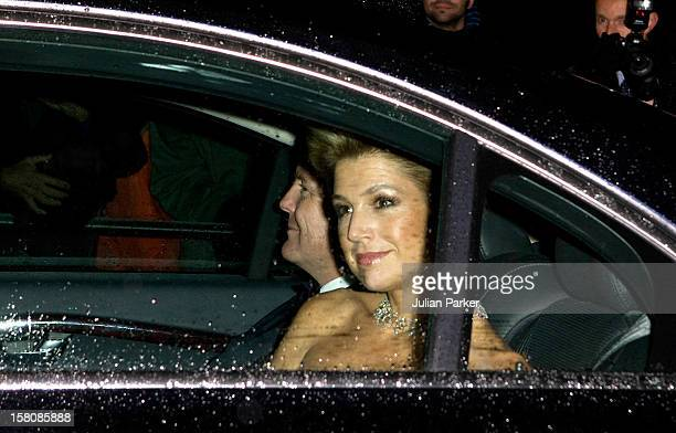 Crown Prince Willem Alexander And Crown Princess Maxima Of Holland Arrive At Buckingham Palace In London For A Private Reception And Concert Given By...