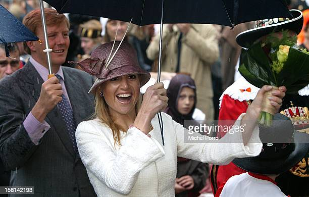 Crown Prince Willem Alexander & Crown Princess Maxima Of Holland Attends The Queen'S Day Festivities In Deventer. .