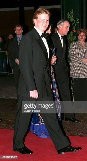 Crown Prince Willem Alexander of The Netherlands attends a Ballet performance at The Muziek Theater in Amsterdam as part of The 60th Birthday...