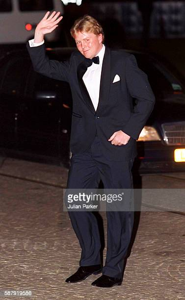 Crown Prince Willem Alexander of The Netherlands, attends a Dinner at The Royal Palace, in Amsterdam as part of The 60th Birthday Celebrations of...