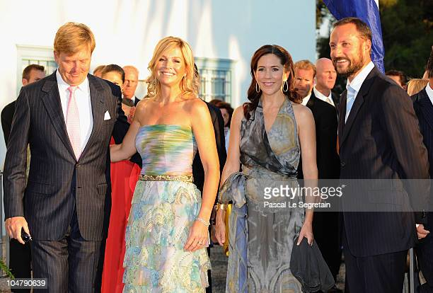 Crown Prince Willem Alexander of the Netherlands Princess Maxima of the Netherlands Crown Princess Mary of Denmark and Crown Prince Haakon of Norway...