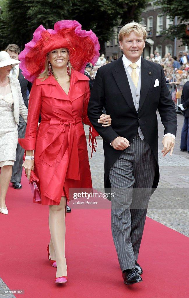 Prince Pieter-Christiaan & Anita Van Eijk Wedding In Noordwijk : News Photo