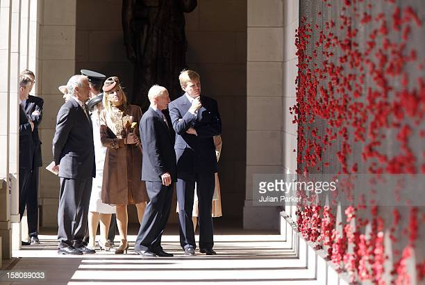 Crown Prince Willem-Alexander & Crown Princess Maxima Of The Netherlands Six-Day Tour Of Australia.Visit To The Australian War Memorial In Canberra. .