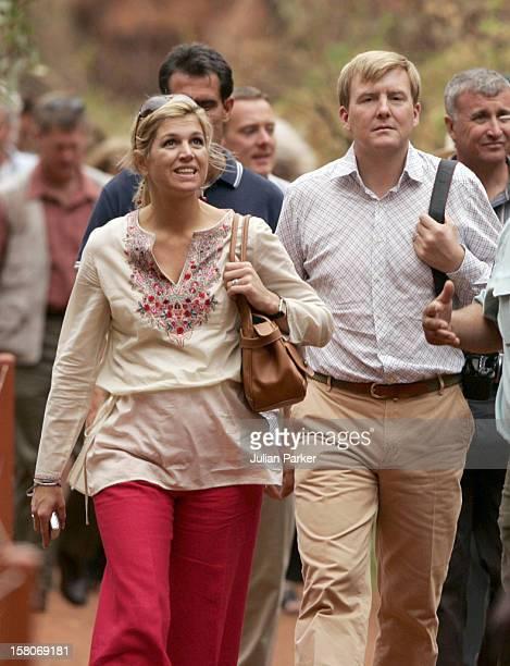 Crown Prince Willem-Alexander & Crown Princess Maxima Of The Netherlands Six-Day Tour Of Australia.Visit To The Uluru-Kata Tjuta Cultural Centre &...