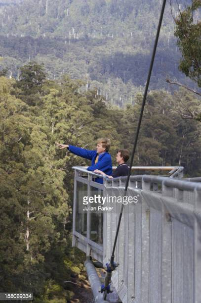 Crown Prince Willem-Alexander & Crown Princess Maxima Of The Netherlands Six-Day Tour Of Australia.Visit To The Tahune Forest Airwalk In Tasmania. .