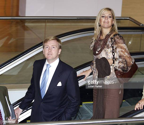 Crown Prince Willem-Alexander & Crown Princess Maxima Of The Netherlands Six-Day Tour Of Australia.Launch Of An Aboriginal Art Project At The Art...